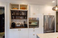 IKEA hack appliance garage with third party pocket door hardware