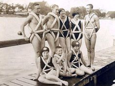 Bizarre Inventions: 15 Idiotic Ideas from the Past This group of teenagers in 1925 Germany seem pretty proud of their invention, a swimming aid made of bicycle tires.
