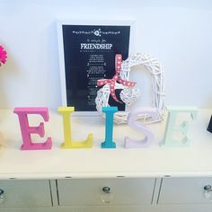 Beautiful Elise freestanding letters