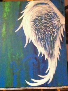 More angel wing tattoo ideas Angel Wings Painting, Angel Wings Art, Angel Art, Angel Wings Drawing, Angel Wing Tattoos, Tatoo Art, Body Art Tattoos, Sleeve Tattoos, Tatoos