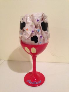 Paint-your-own glass for our #DisneySide party??? Disney lovers wine glass
