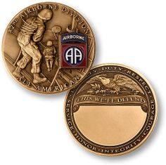 """U s Army 82nd Airborne Division """"This We'll Defend"""" Challenge Coin 