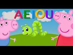 aprende las vocales con peppa pig y george pig en español 2016 HD