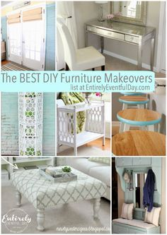 The Best DIY furniture makeovers at Entirely Eventful Day