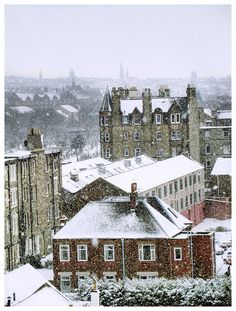 Snow in Edinburgh, Scotland