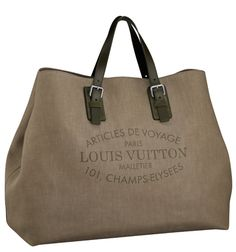 My LV style -- a men's canvas tote! | Louis Vuitton Articles De Voyage Denim Cabas
