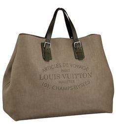 louis vuitton trunks and bags canvas tote | Louis Vuitton Articles De Voyage Denim Cabas · BAGAHOLICBOY ...