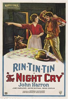 June Marlowe - Lobby card for the American film The Night Cry (1926).