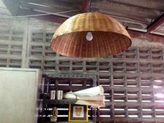 WOODEN BEDSIDE TABLE LAMPS HANDMADE LOTUS COCONUT SHELL WOOD LIGHT SHADE ISLAND