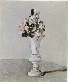 """Flowers"" 1951, oil on canvas by Italian artist GIORGIO MORANDI (1890/1964)"