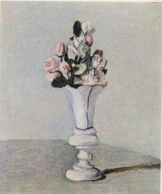 """Flowers"" 1951, oil on canvas by Italian artist GIORGIO MORANDI (1890/1964)"