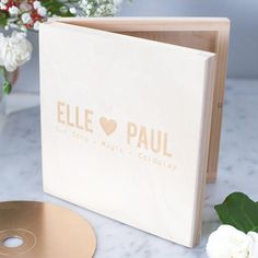 We love the idea of giving your partner a personalised wooden CD box. Why not print off your wedding song playlist so you can listen to it again and relive all the emotional moments from your wedding.