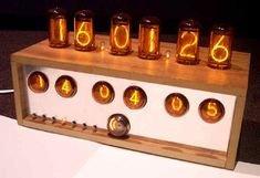 Nixie clock uses vacuum tube technology.