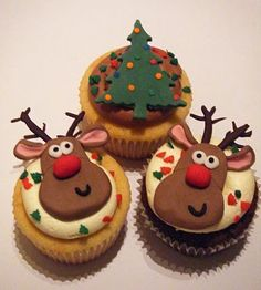 33 Best Christmas Cupcake Designs Images On Pinterest Christmas