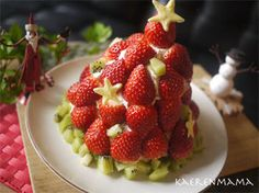クリスマスに♪苺ツリーケーキの作り方
