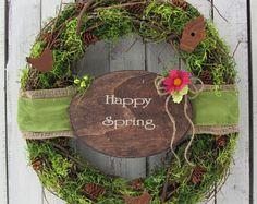 Spring Door Wreath Eucalyptus Wreath  Summer Wreath