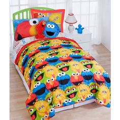 Sesame Street Bedding Comforter Set Room Toddler Bed Rooms Kids