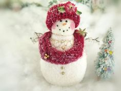 Your place to buy and sell all things handmade Snowman Ornaments, Christmas Snowman, Christmas Holidays, Christmas Ideas, Christmas Crafts, Christmas Ornaments, Snow Men, Pink Cheeks, Make Happy