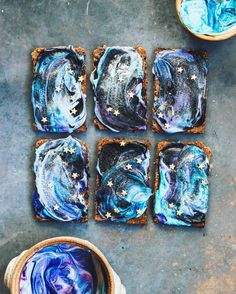 We found the most gorgeous, photogenic breakfast of all time: vegan galactic toast.