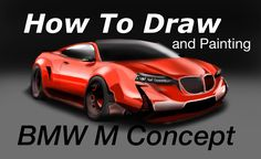 HOW to DRAW and RENDERING -BMW M-Concept 2017 Speed drawing