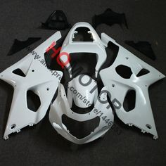 195.89$  Buy here - http://aliiqy.worldwells.pw/go.php?t=32375754577 - Motorcycle ABS Injection Bodywork Fairing Cowl Kit for Suzuki GSX-R GSXR 1000 2001 2002 Unpainted 195.89$