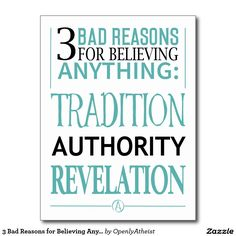 3 Bad Reasons for Believing Anything Postcard