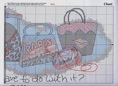 HANDBAG HEAVEN 4 Cross Stitch Borders, Cross Stitch Designs, Cross Stitching, Cross Stitch Patterns, Stitches Wow, All Craft, Le Point, Needlework, Folk