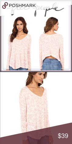 Free People Asymmetrical Low High Sahara Ivory Top ➖BRAND: Free People ➖SIZE: Medium ➖STYLE: Sahara Print Long sleeve top in Ivory combo. This gorgeous top is actually low in the back with rouched cuffs at the sleeves. Free People Tops Blouses
