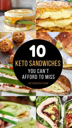 10 Best Low Carb Keto Sandwich Recipes You Can't Afford to Miss! - Keto Whoa Rezepte 10 Best Low Carb Keto Sandwich Recipes You Can't Afford to Miss Diet Dinner Recipes, Keto Dinner, Diet Recipes, Breakfast Recipes, Healthy Recipes, Healthy Fats, Dessert Recipes, Smoothie Recipes, Slimfast Recipes