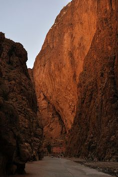 """""""Todra (Morocco) - The gorge in the sunset"""""""