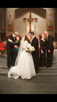 Our Wedding. Plus size bride. Parents picture. Sweet. Classic.