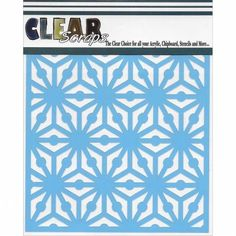 Clear Scraps CSSMGEO12 Stencils, 12 x 12, Geo Pattern, Blue >>> Amazing product just a click away at : Baking tools