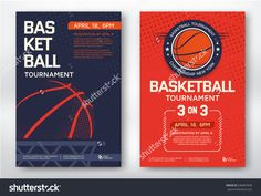 Basketball Tournament, Modern Sports Posters Design. Vector Illustration. - 340467836 : Shutterstock