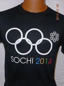 Sochi 2014 Olympic Rings T Shirt Funny Epic Fail Russia Souvenir Team USA SM 3XL   eBay Men's size M Black