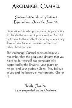 Archangel Camael | back | Mystic Angels Oracle 19