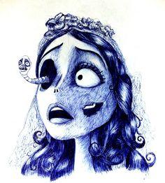 The Corpse Bride, Tim Burton Corpse Bride Tattoo, Corpse Bride Art, Tim Burton Corpse Bride, Tim Burton Drawings, Tim Burton Art, Tim Burton Style, Desenhos Tim Burton, Arte Emo, 7 Arts