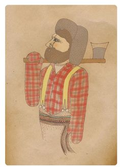 Items similar to Canadian Lumberjack, Print of Original Drawing on Etsy Illustration, Drawings, Native North Americans, Painting, Art, Original Drawing, Artsy, Book Art, Prints