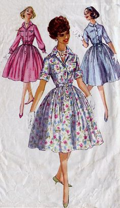1950s Vintage Shirtwaist Dress Pattern  by treazureddesignz, $7.95