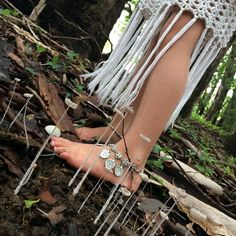 Sometimes all you need is to step off the worn path.  To take a slower stride.  To breathe a deeper breath. Seize the moments they are gone before you know it. #forestfloor #seizethemoment #slowdown #pippafleur #coinanklet #crochetskirt #seethebeauty #mushroom #appreciatenature #learningthroughplay #notallthosewhowanderarelost #pippythehippy #gyspystyle Children's Coin Anklets coming soon to @sweetloladesigns by life_as_five