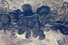 A river in Kazakhstan or nearby seen from ISS (Alexander Gerst)