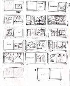 Storyboard thumbnails -quick sketches showing alignment and repetition.