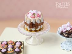 Pink Candy Charlotte Miniature Food in 12th por ParisMiniatures♡ ♡