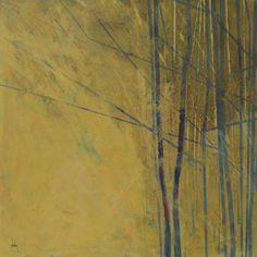 Pintura original del árbol abstracto - plantones de primavera