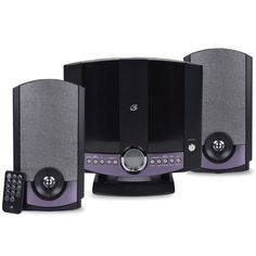 GPX HM3817DTBLK Compact Disc Home Music System w-Backlit LCD & Auxiliary 3.5mm Jack (Gray) - B