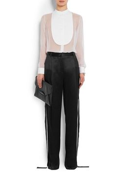 Givenchy - Shirt In White Silk-georgette And Cotton-poplin - FR38