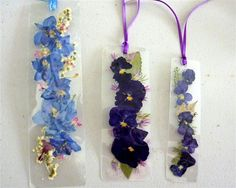 Laminated  pressed flowersdelphinium and pansy  by pauladyer1, $10.00