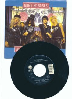 """GUNS N ROSES """"Welcome To The Jungle"""" GEFFEN Records 45 Rpm Free S/H USA"""