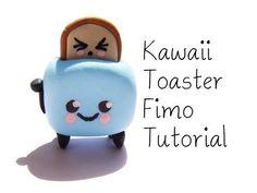 Kawaii Toaster Fimo Polymer Clay Tutorial