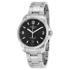 Certina DS Podium Automatic Black Dial Stainless Steel Men's Watch C0014071105700 - DS Podium - Certina - Watches - Jomashop