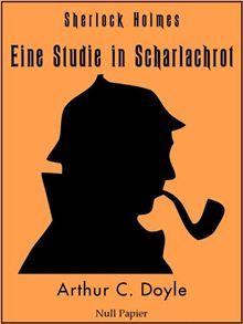 """Die erste Sherlock-Holmes-Geschichte erstmals ungekürzt und illustriert (24 Zeichnungen) als digitale Ausgabe. In """"Eine Studie in Scharlachrot"""" treffen Holmes und Watson das erste Mal aufeinander…  read more at Kobo."""